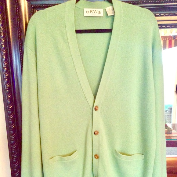 Stunning 100% Cashmere Cardigan in Lime Sz. Xl